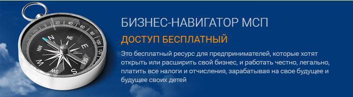 Баннер БИЗНЕС-НАВИГАТОР МСП